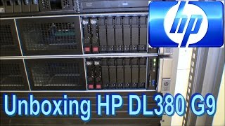 unboxing and rack mount two hp dl380 g9 180