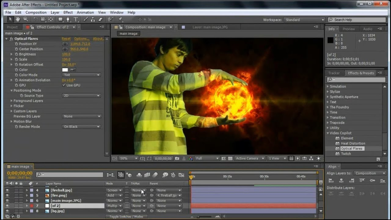 Fireball in Hand - Adobe After Effects Tutorial - YouTube