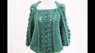 Poncho o capa de mujer a crochet  MAJOVEL  muy fácil y rápido #crochet #ganchillo #fácil Mp3