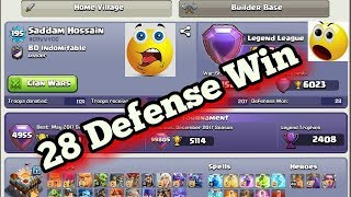 WTF Impossible 28 Defense Win In Legend  League?? Town Hall 11(LEGENDS LEAGUE) Choose Your Best One