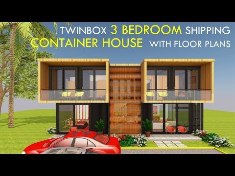 Amazing Shipping Container Home 3 Bedroom Prefab Design with Floor Plans | TWINBOX 1280.