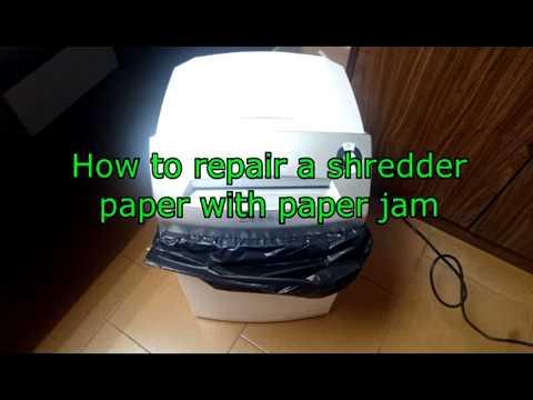 How to repair a shredder of paper - remove paper jam