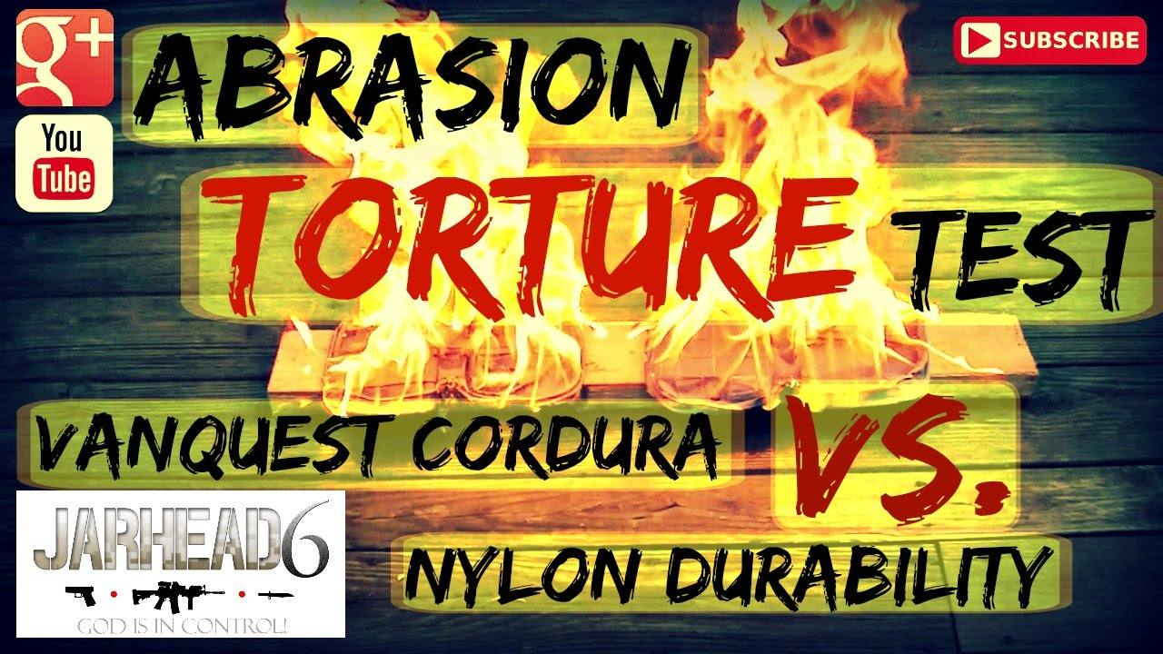 1592569cd9b8 Abrasion + FIRE Torture Test  Vanquest Cordura Vs. Nylon Durability By  Jarhead6