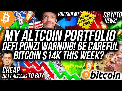 These Altcoins WILL 10X! DEFI PONZI WARNING!! Bitcoin $14K SOON! Brock Pierce President! Crypto News
