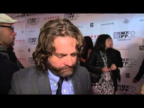"""Birdman: Zach Galifianakis """"Jake"""" New York Film Festival Premiere Interview"""