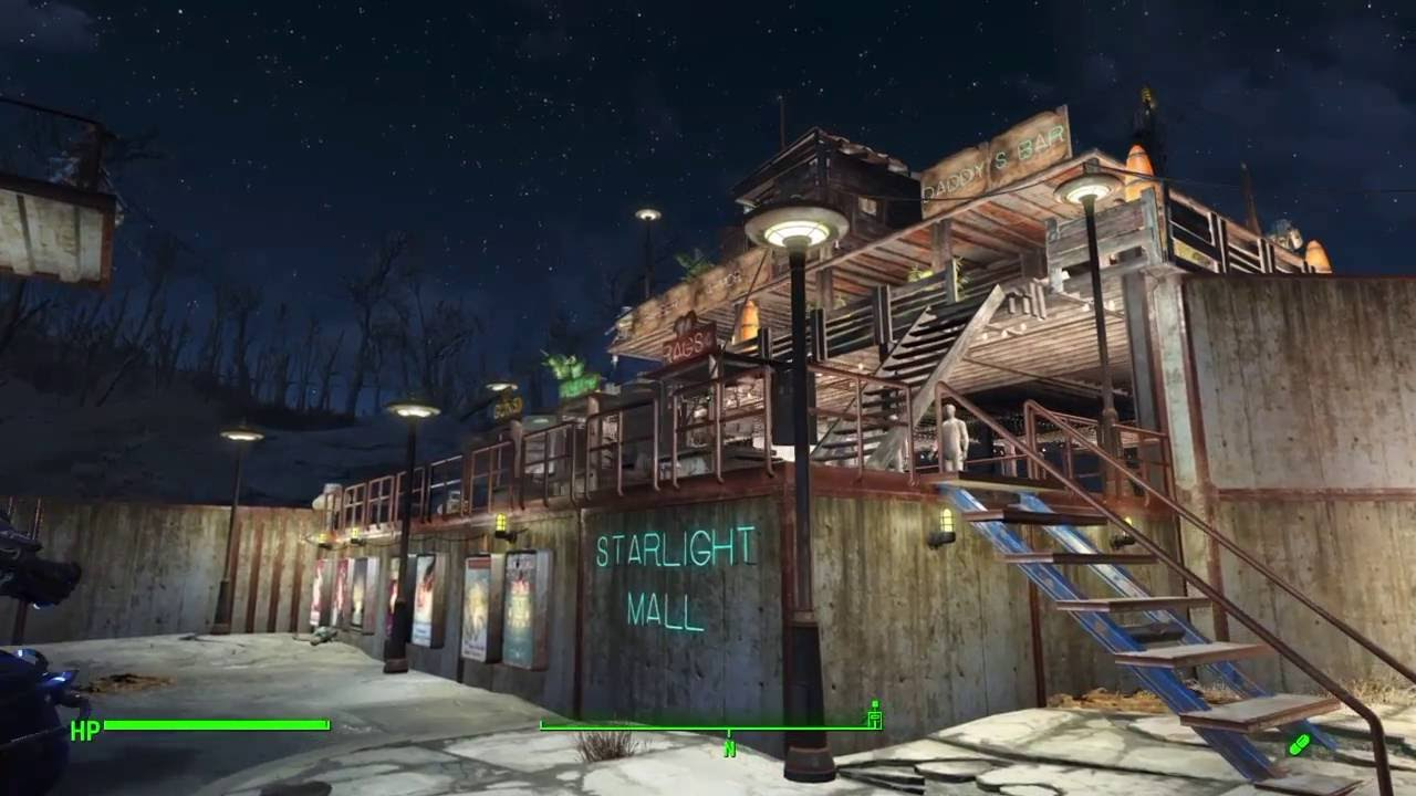 fallout 4 starlight drive in settlement build 2 0 the fortress ps4