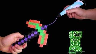 Minecraft Axt mit 3D Stift selber machen! 💚