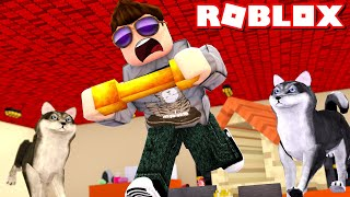 🐶 STEAL THE GOLDEN BONE! -Roblox Robbery Simulator Ep 2 Danish with ComKean
