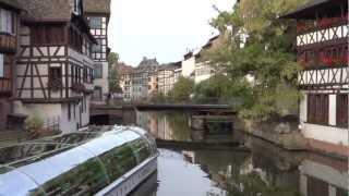 France: Strasbourg - channels. Франция: Страсбург - каналы(My video. 9'2012. Автобусный тур