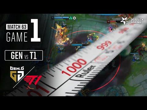 룰러 선수의 1000킬 축하합니다.   GEN Vs T1 H/L 04.01   2020 LCK 스프링