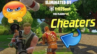 Finding CHEATERS in Fortnite.. *RAGE WARNING*
