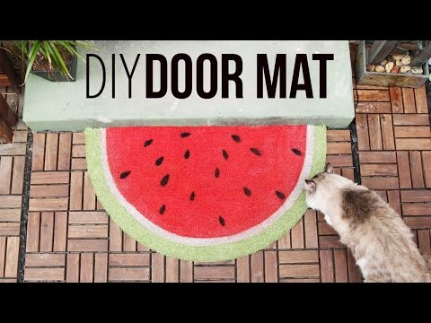 Fruity Door Mats ♥ DIY