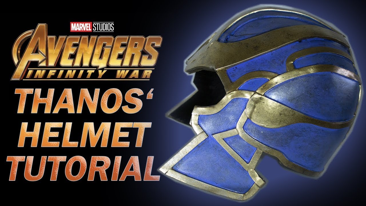 thanos helmet avengers tutorial free templates youtube