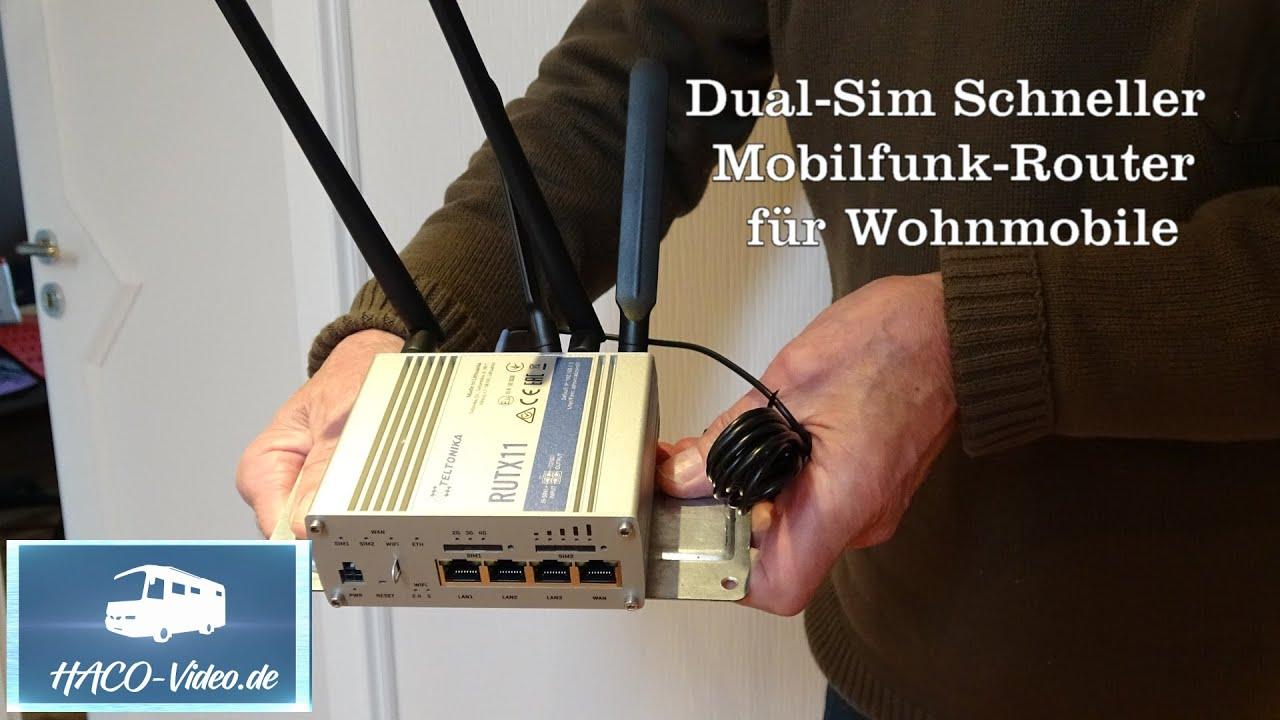 Dual-Sim,  schneller Mobilfunk-Router im Wohnmobil (RUTX 11)