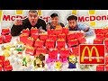 100 MCDONALD'S HAPPY MEALS IN 10 MINUTES CHALLENGE (Happy Meal Surprise Toys)