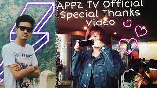 Appzo TV Official |Special Thanks Video (2018-2015)