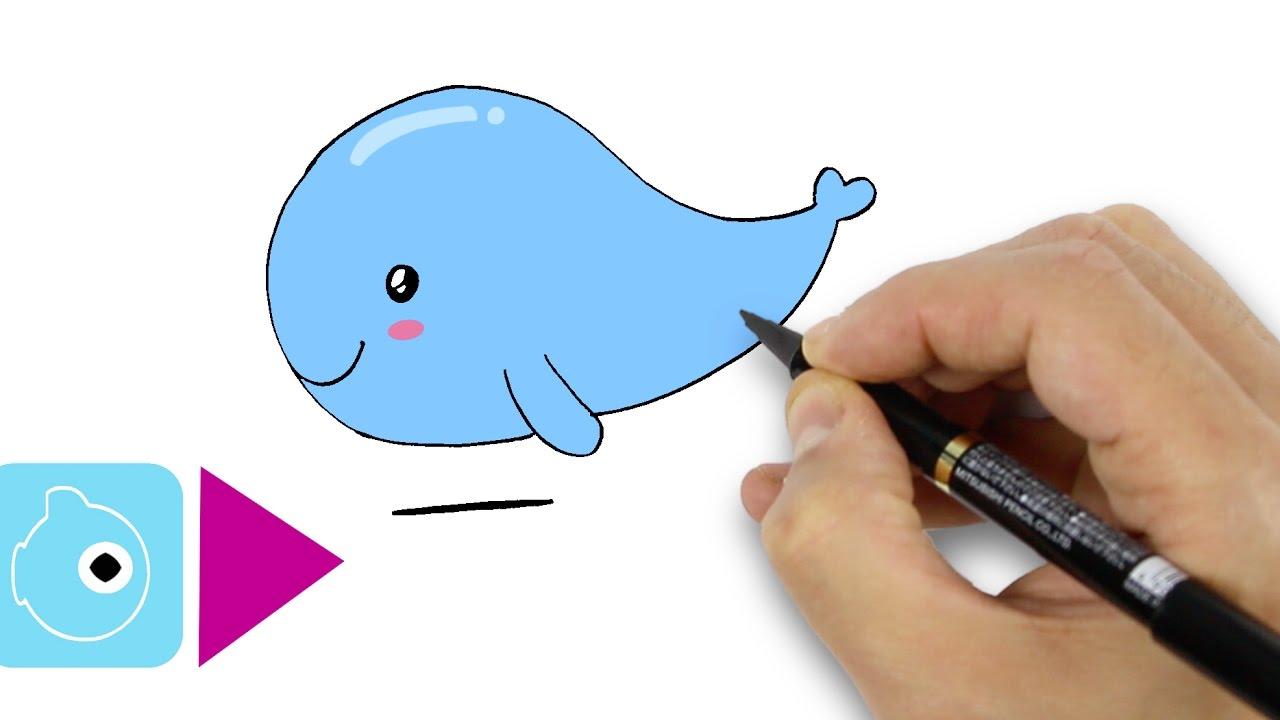 Comment dessiner une baleine kawaii dessiner facilement - Comment dessiner une sorciere facilement ...