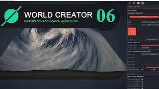 World Creator 2. Path filter settings. Shape filter, Distortion, Magnify, Pixelate, Swirl and others