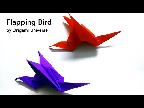 How to make an easy origami flapping bird - Easy Paper Flapping Bird