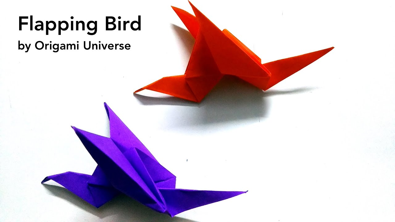 Flappy Bird Origami How To Make A Bird Origami Flapping - Make ... | 720x1280