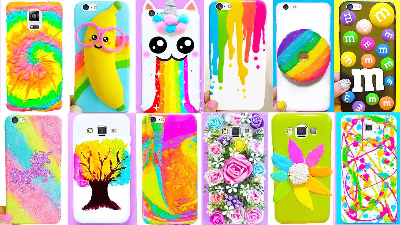 Diy Phone Cases Rainbow Edition Easy Cute Phone Projects