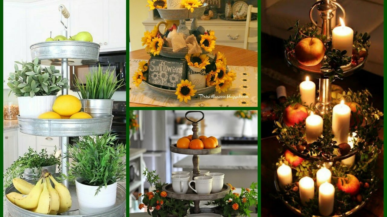 Tiered tray decorating ideas rustic home decor for Home decorations images