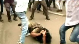 How Congress protestors assaulted a policewoman