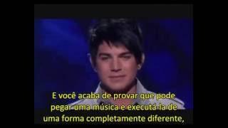 """Performance de Adam Lambert com """"One"""" (U2) durante o TOP 3 da 8ª Te..."""