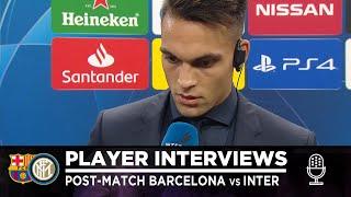 BARCELONA 2-1 INTER | LAUTARO MARTINEZ INTERVIEW: