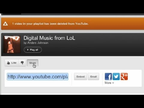 How to Share a Created Playlist on YouTube : YouTube Tips