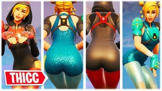 "*NEW* THICC ""MOXIE"" SKIN WITH BLUE AND RED CATSUIT SHOWCASED 😍❤️ Fortnite"