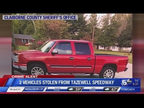 Two vehicles stolen from Tazewell Speedway