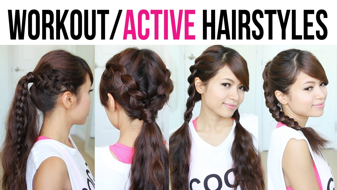 Cute U0026 Easy Back To School Gym Hairstyles For Medium To Long Hair   YouTube