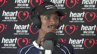 "Alen the singing car guard performing ""Stupid Girl"" on Heart 104.9FM - Follow on Twitter @adenthomas"