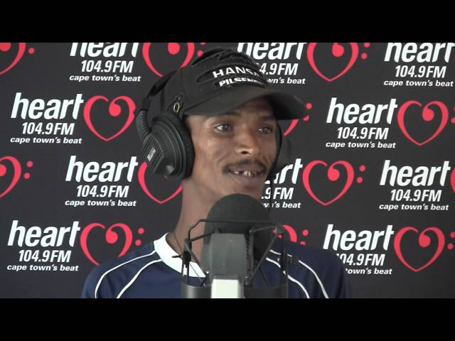Alen the singing car guard performing Stupid Girl on Heart 104.9FM - Follow on Twitter @adenthomas