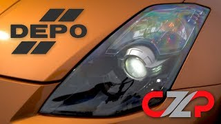 DEPO HID Headlight Installation on Nissan 350Z!
