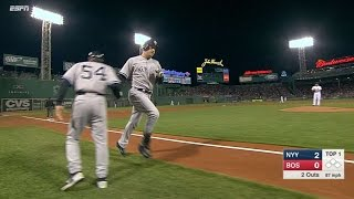 5/3/15: Trio powers Yanks to three-game sweep of Sox