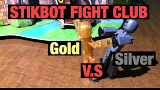 Stikbot Fight Club 4 | Gold v.s Silver | #Stikbot