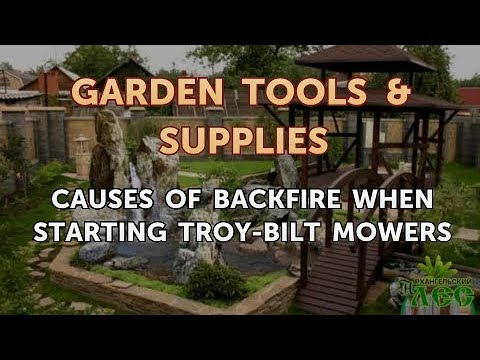 Causes of Backfire When Starting Troy-Bilt Mowers