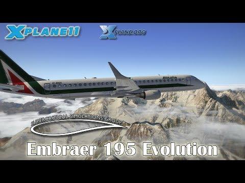 SSG Embraer 195 Evolution for X-plane 11