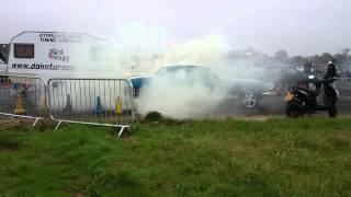 Ford mustang burnout smeatharpe dakota raceway