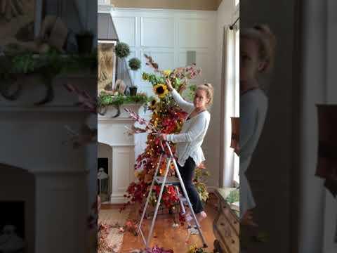 Decorating a Fall Tree    Fall Decor    Fall Decorating 🍂🍂🍂