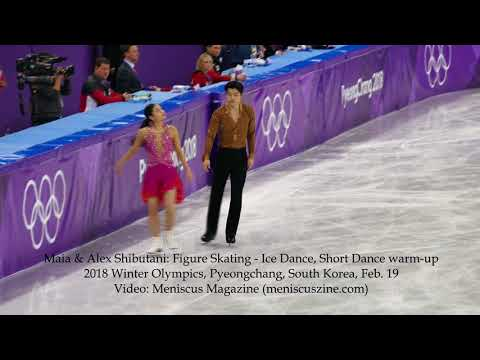 Maia & Alex Shibutani: Ice Dance Figure Skating Short Dance warm-up - 2018 Winter Olympics