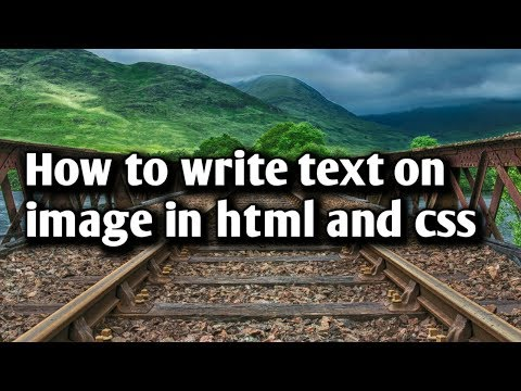 How To Write Text On Image - HTML And CSS