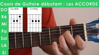 Cours de Guitare débutant 1 : Accord La Majeur / La Mineur ( ???? ??????? )