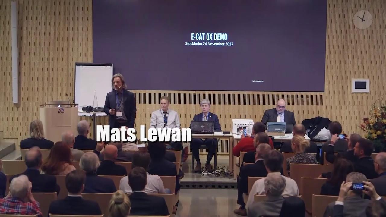 LENR ColdFusion Demo - E-Cat QX - Stockholm Nov  24th