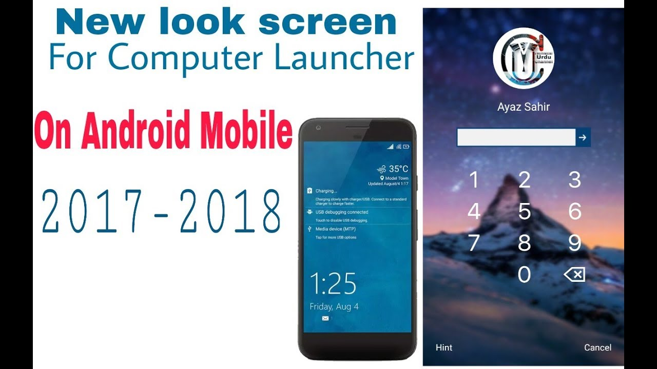 look screen for computer launcher on android mobile - youtube