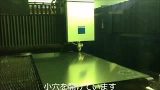 アルミ板への小穴加工