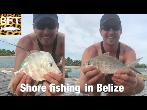 2 dollar rod shore fishing in Belize Placencia