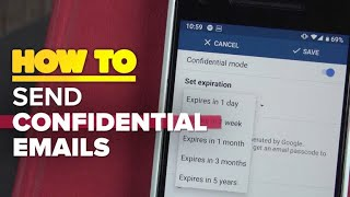 How to send confidential emails with the Gmail app